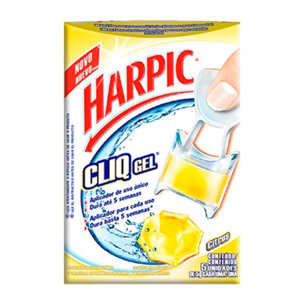 7891035560729_Desodorizador-sanitario-gel-citrus-Harpic-com-5-unidades---5g