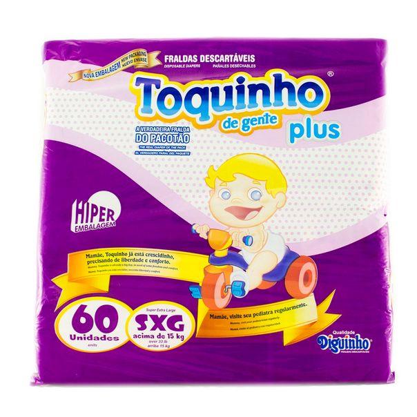 7896877601470_Fralda-Toquinho-Plus-SXG-com-60-unidades