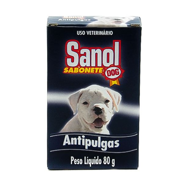 7896183300876_Sabonete-antipulgas-Sanol-Dog---80g
