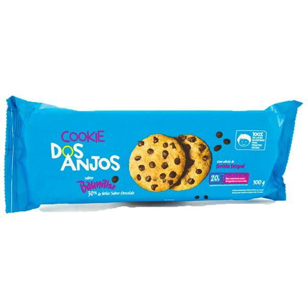 7898960450033_Biscoito-Cookie-Baunilha-com-Cotas-de-Chocolate-Dos-Anjos-100g