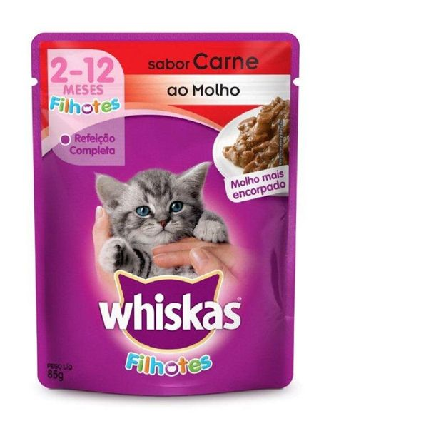 Alimento-para-Gatos-Whiskas-Filhote-Carne-Sache-85g