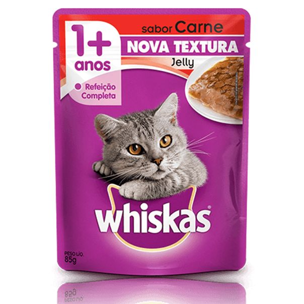 Alimento-para-Gatos-Whiskas-Jelly-Junior-Carne-Sache-85g
