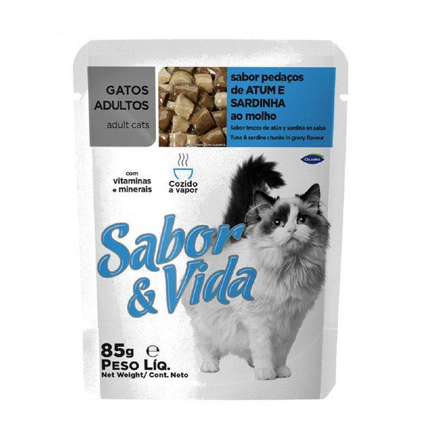 Alimento-para-Gatos-Sabor-e-Vida-Atum-Sardinha-Sache-85g