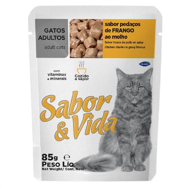 Alimento-para-Gatos-Sabor-e-Vida-Frango-Sache-85g