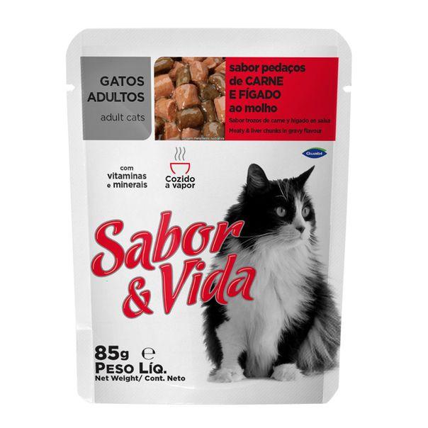 Alimento-para-Gatos-Sabor-e-Vida-Carne-e-Figado-Sache-85g