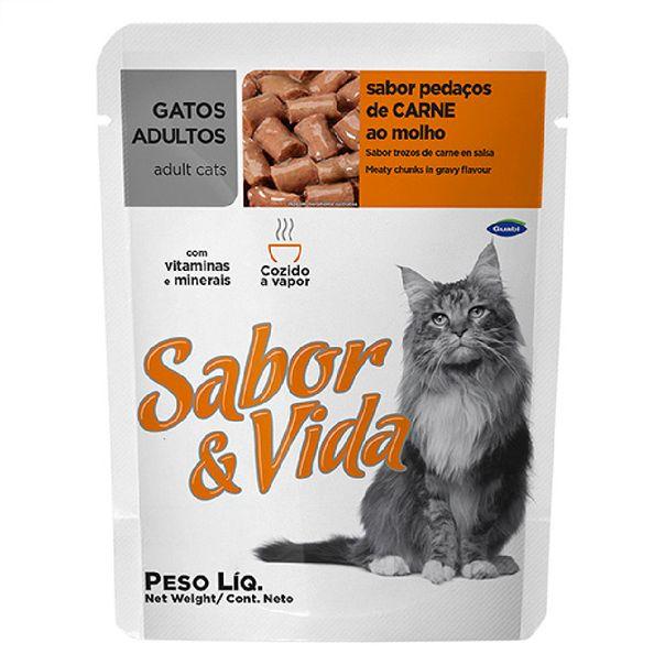 Alimento-para-Gatos-Sabor-e-Vida-Carne-Sache-85g