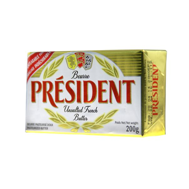 Manteiga-sem-Sal-President-200g