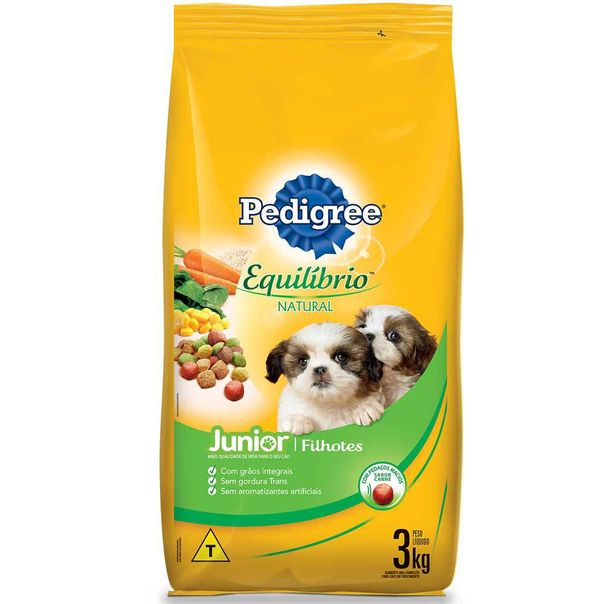Alimento-para-Caes-Pedigree-Equilibrio-Natural-Filhote-3kg