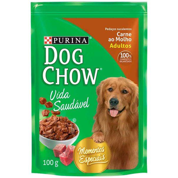 Alimento-para-Caes-Dog-Chow-Carne-ao-Molho-Sache-100g