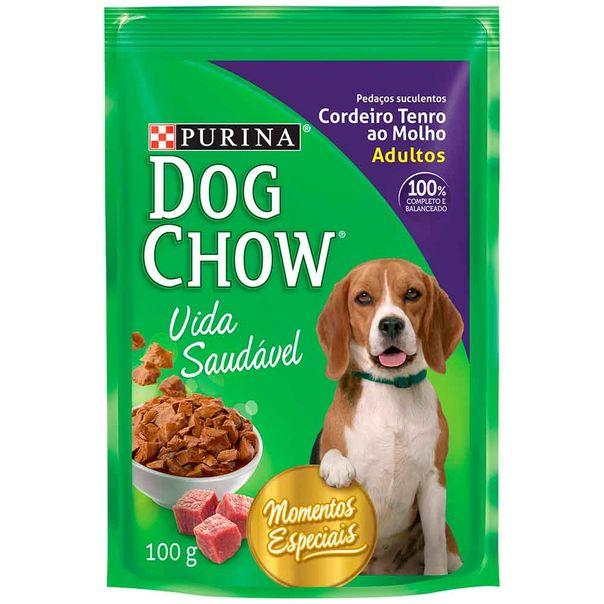 Alimento-para-Caes-Dog-Chow-Carneiro-ao-Molho-Sache-100g
