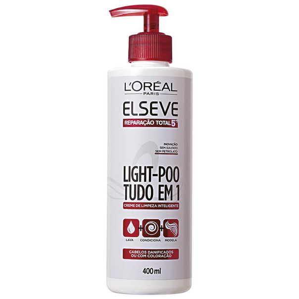 Creme-de-Limpeza-Elseve-Light-Poo-Reparacao-Total-5-400ml