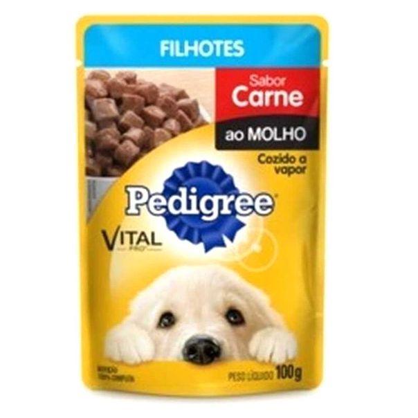Racao-para-Caes-Pedigree-Filhote-Carne-Molho-100-g