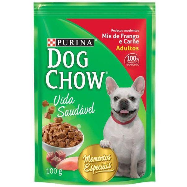 Alimento-para-caes-sabor-mix-de-frango-e-carne-Dog-Chow-100g