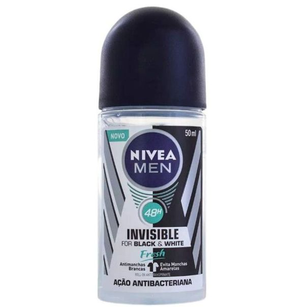 Desodorante-roll-on-invisible-for-black---white-fresh-Nivea-50ml