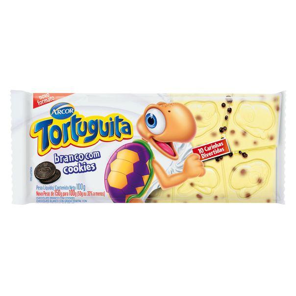 Barra-de-chocolate-branco-com-cookies-tortuguita-Arcor-100g