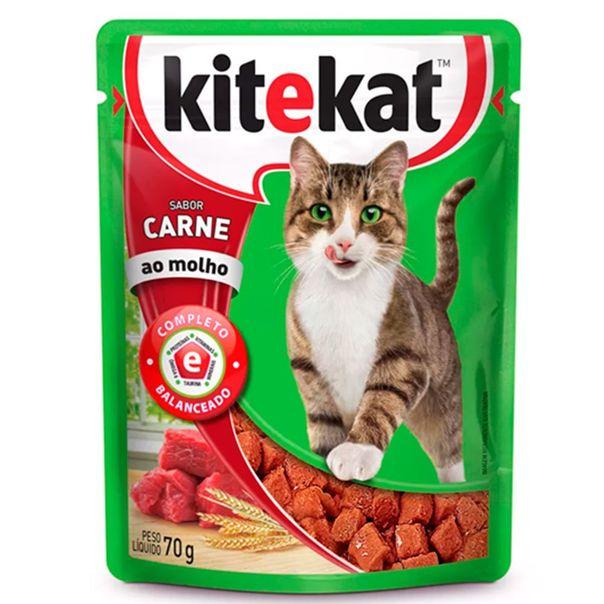 Racao-umida-para-gatos-adultos-sabor-carne-sache-KiteKat-70g-