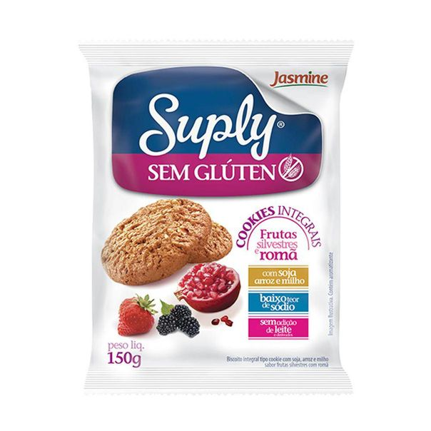 Cookie-integral-frutas-silvestres-sem-gluten-Jasmine-150g