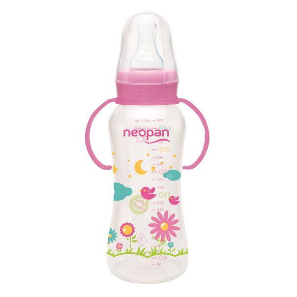 Mamadeira-com-alca-convencional-rosa-Neopan-250ml