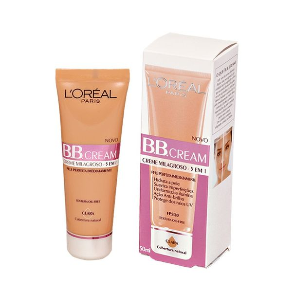 7899026482012_Base-clara-BB-cream-FPS-20-L-Oreal---50ml