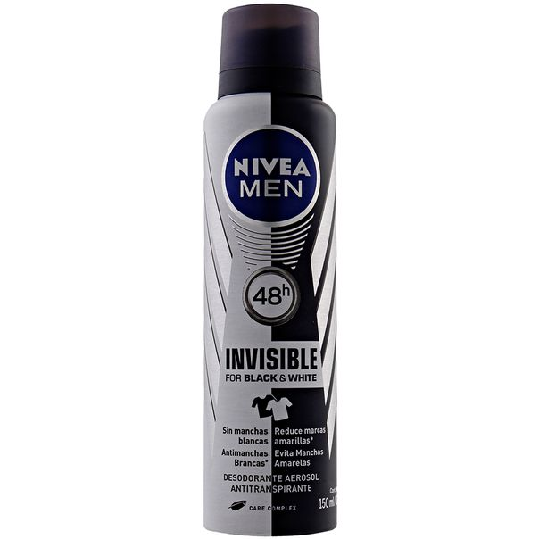4005900036728_Desodorante-Nivea-aerosol-For-Men-Invisible-Black-White---150ml