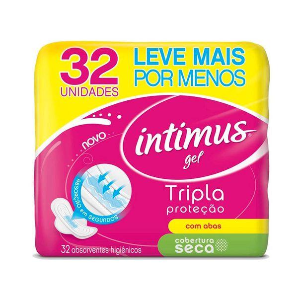 7896007544059_Absorvente-cobertura-seca-Intimus-Gel-com-abas---32-unidades
