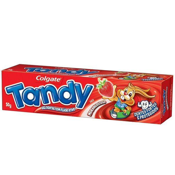 7891528038810_Creme-dental-Morango-Tandy---50g