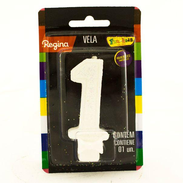 7891175018609_Vela-de-Aniversario-Super-Com-glitter-Branca--nº-1-Regina