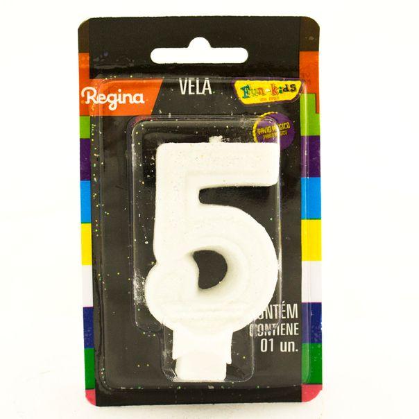 7891175018739_Vela-de-Aniversario-Super-Com-glitter-Branca--nº-5-Regina