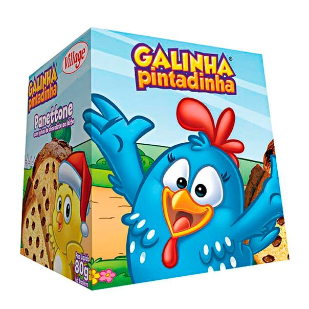 7896050427231_Mini-Panetone-Chocolate-galinha-Pintadinha-Village-80g