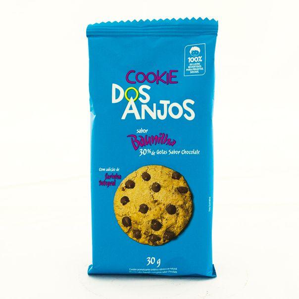 7898960450019_Biscoito-Cookie-Baunilha-com-Cotas-de-Chocolate-Dos-Anjos-30g