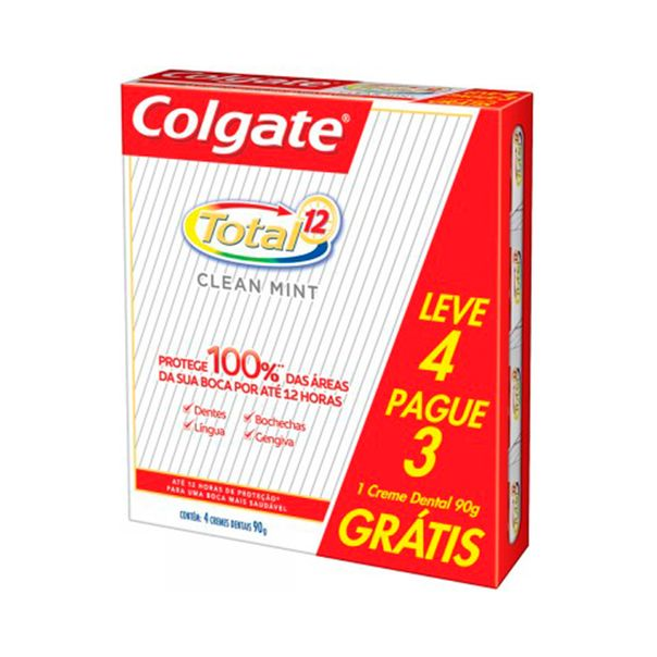 Creme-Dental-Colgate-Total-12-Clean-Mint-90g-Leve4-Pague3