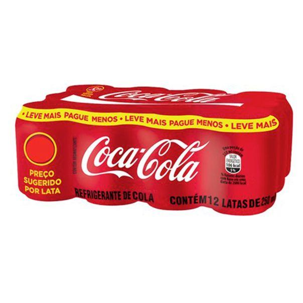 Refrigerante-Coca-Cola-Mini-Lata-250ml-Leve-Mais-Pague-Menos-com-12-Unidades