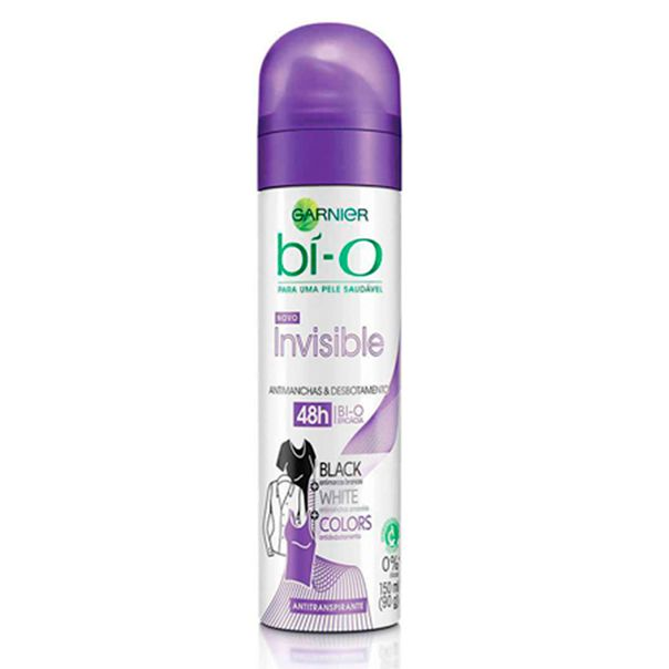 Desodorante-Aerosol-Garnier-Bio-Invisible-Black-White-Colors-90g