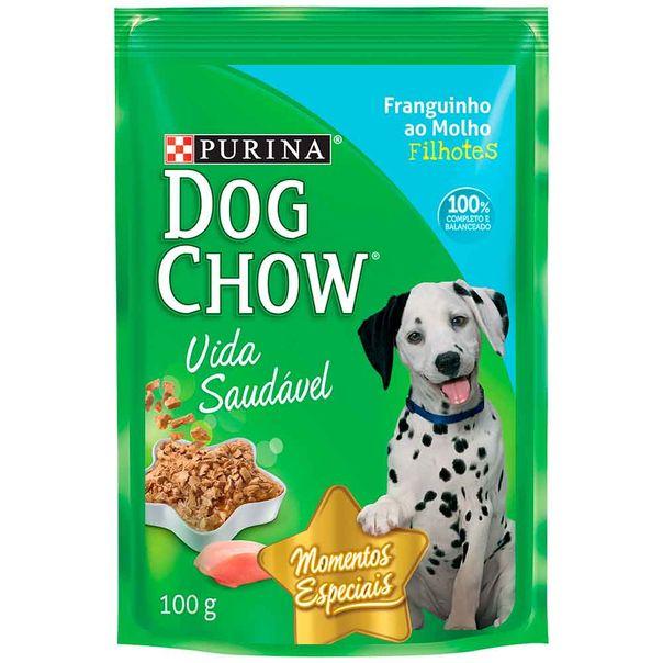 Alimento-para-Caes-Dog-Chow-Filhote-Frango-ao-Molho-Sache-100g