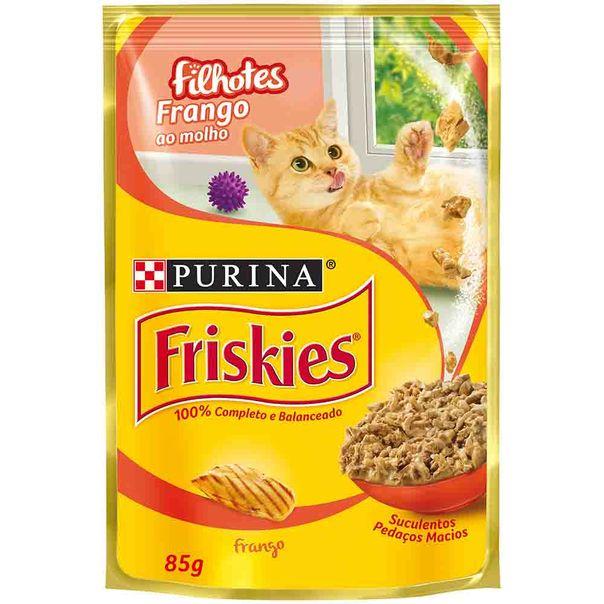 Alimento-para-Gatos-Friskies-Filhote-Frango-ao-Molho-Sache-85g