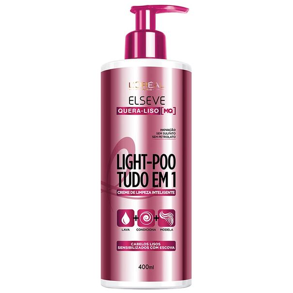 Creme-de-Limpeza-Elseve-Light-Poo-Quera-Liso-400ml
