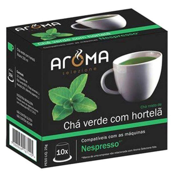 Capsulas-de-cha-verde-com-hortela-Aroma-Selezione-25g