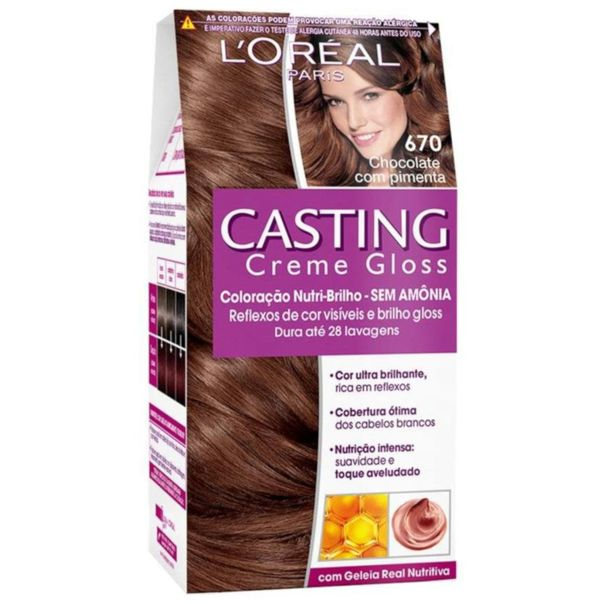 Coloracao-permanente-loreal-casting-creme-gloss-kit-670-chocolate-com-pimenta-L'oreal