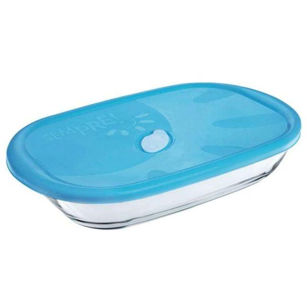 Assadeira-retangular-com-tampa-plastica-Nadir-3-litros