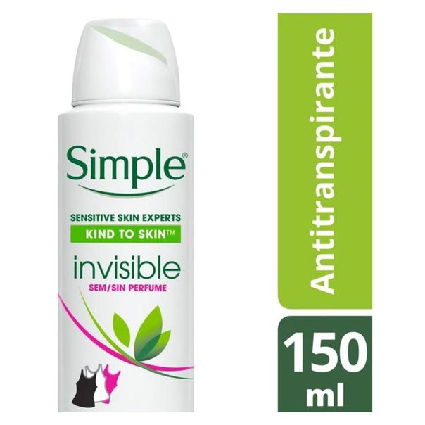 Desodorante-antitranspirante-aerossol-invisivel-Simple-150ml