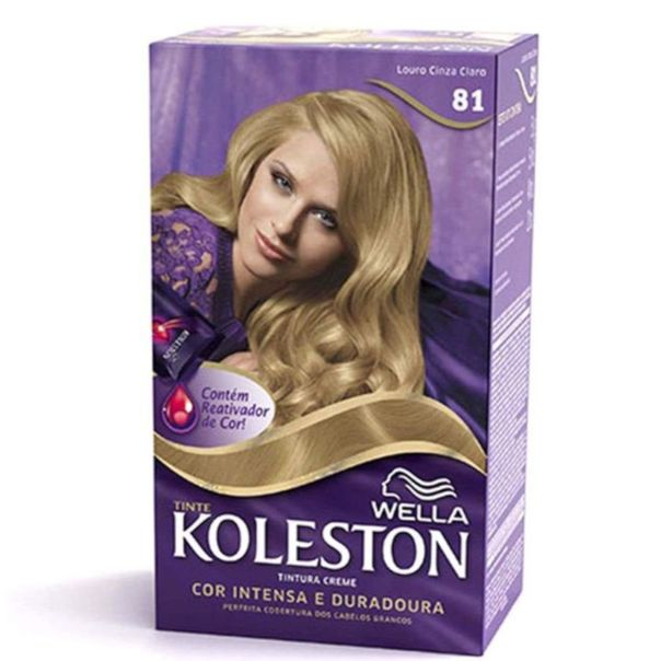Tintura-permanente-koleston-creme-kit-gloss-loiro-cinza-claro-Wella