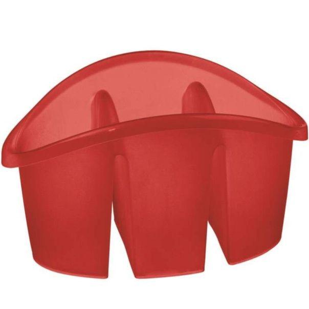 Escorredor-de-talher-com-divisoria-plastico-vermelho-Sanremo