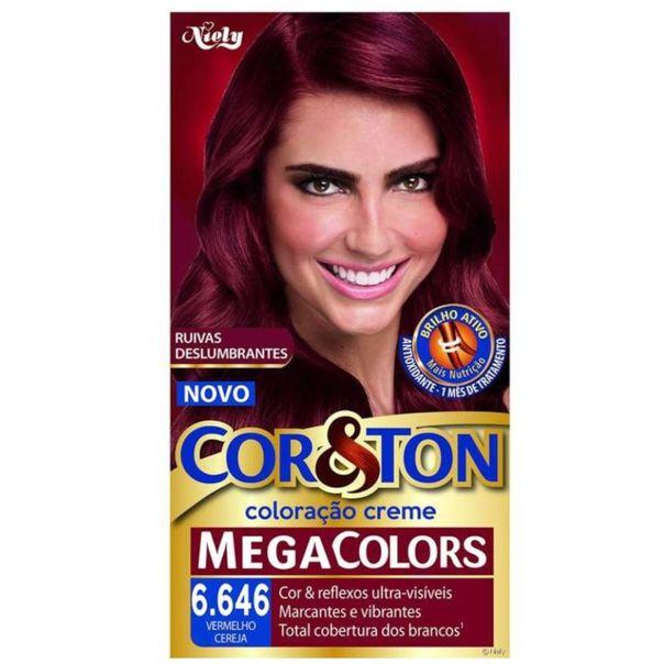 Tintura-permanente-mega-colors-6.646-vermelho-cereja-Cor-Ton