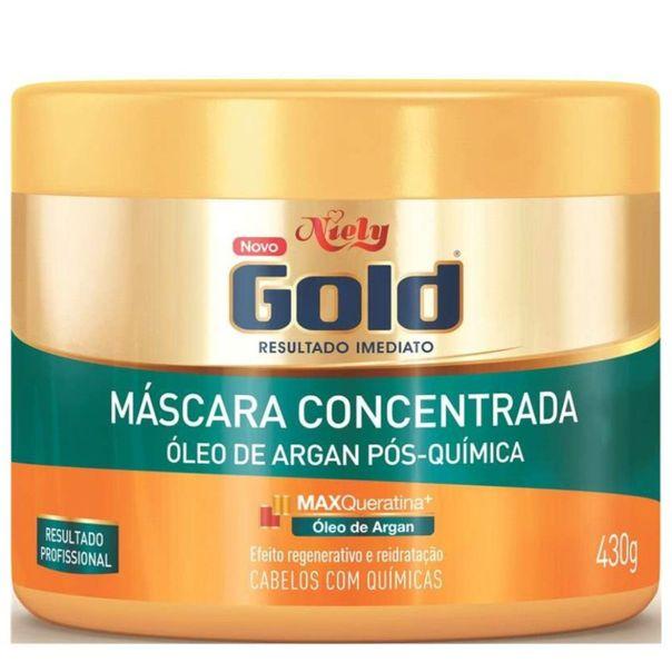 Mascara-capilar-com-oleo-de-argan-pote-Niely-Gold-430g