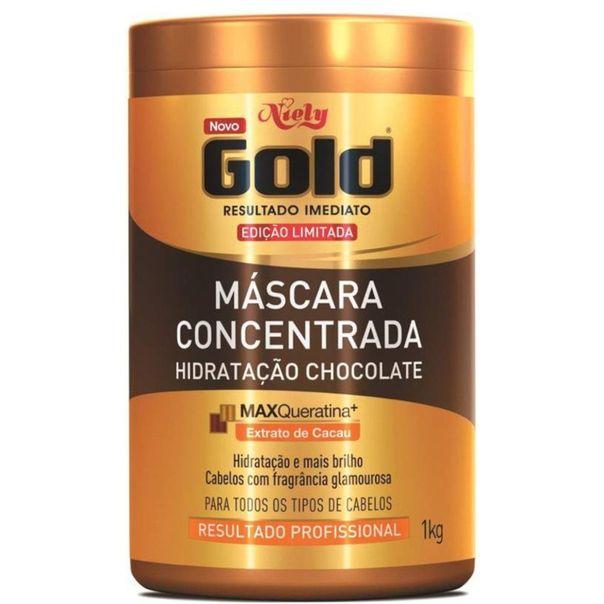 Mascara-capilar-hidratacao-chocolate-Niely-Gold-1kg