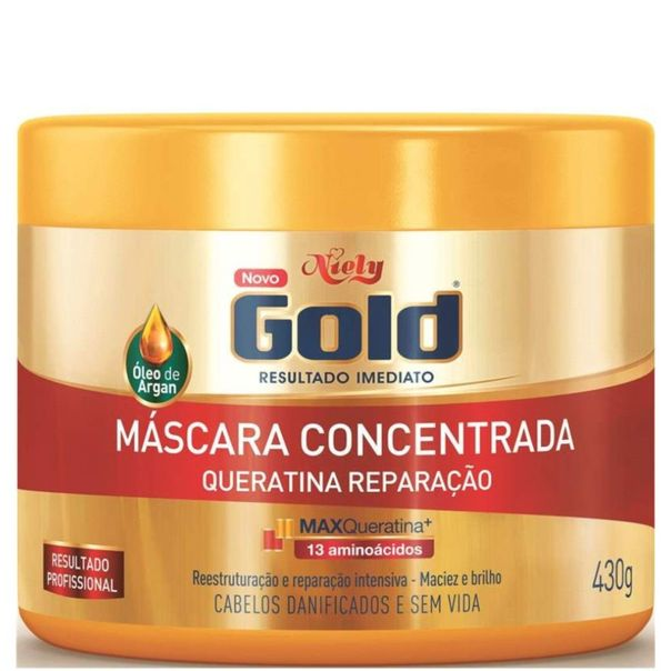 Mascara-capilar-queratina-reparadora-Niely-Gold-430g