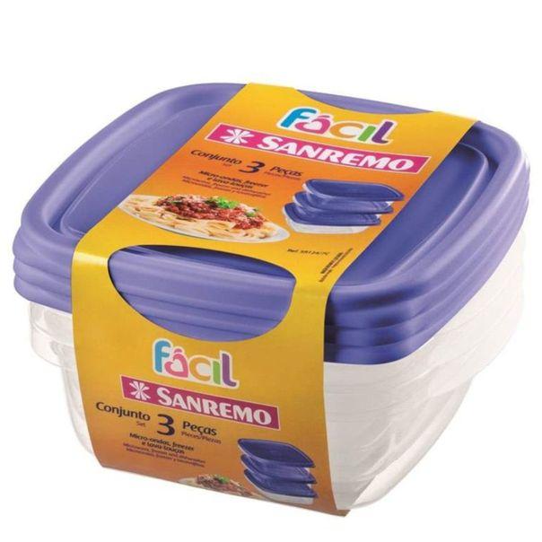 Conjunto-de-potes-quadrados-plastico-Sanremo-leve-5-pague-4-unidades-530ml