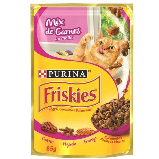 Alimento-para-gato-sabor-mix-de-carnes-ao-molho-Friskies-85g