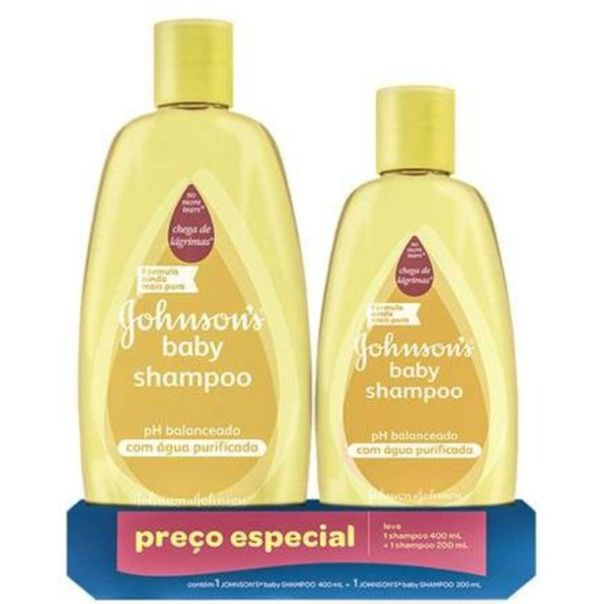 Kit-com-2-shampoo-infatil-neutro-baby-Johnson-s-400ml---200ml