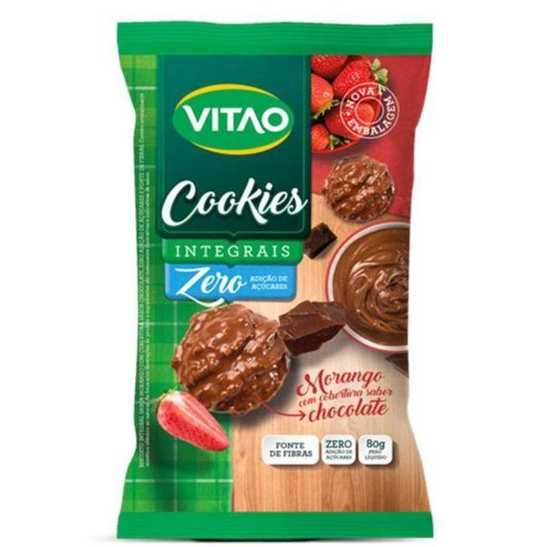 Cookies-integrais-zero-adicao-de-acucares-morango-com-cobertura-sabor-chocolate-Vitao-80g
